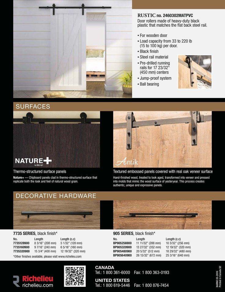 Catalog - Barn Doors - page 2 - Richelieu Hardware ...
