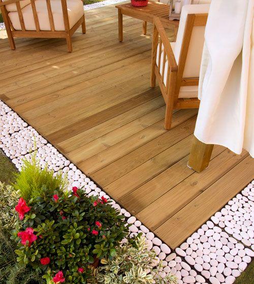 Oltre 25 fantastiche idee su pavimentazione da giardino su - Pavimentazione giardino in legno ...