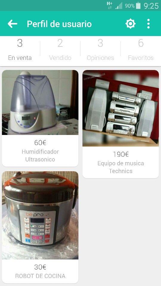 HUMIDIFICADOR ULTRASONICO. ... 60  €  ROBOT DE COCINA. ... 30  €  MINI CADENA DE MÚSICA TECHNICS + TV REGALO. ..... 200 €