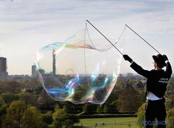 Делай мыльные пузыри как профессионал.