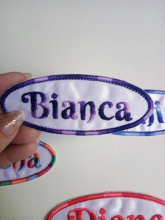 Iron on Embroidered Monogram Monogram Name Applique FREE SHIPPING Patches Embroidered Monogram Name Patch Sew on Monogram Name