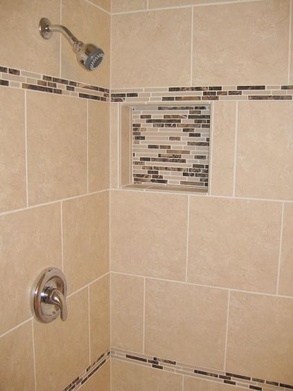 Shower Tile Installation Using 12x12 Porcelain With A