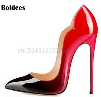 9 Colors Super Sexy Pointed Toe 12cm <b>Thin High Heels</b> Pumps ...
