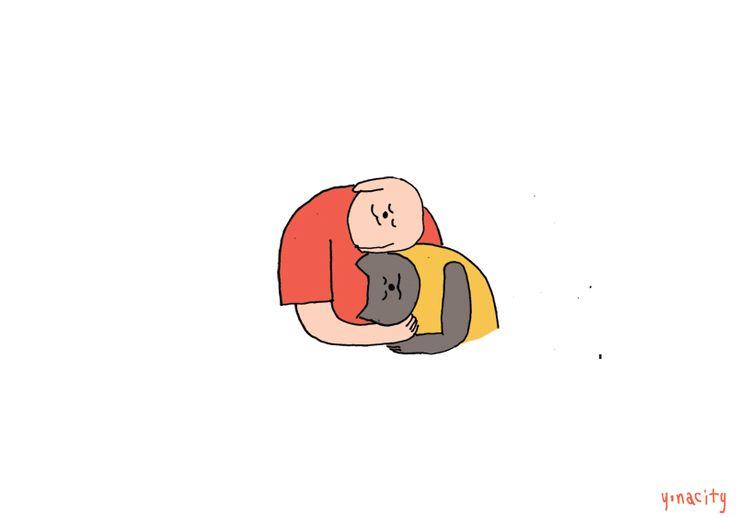 Dog n Kat love, consoling - yonacity