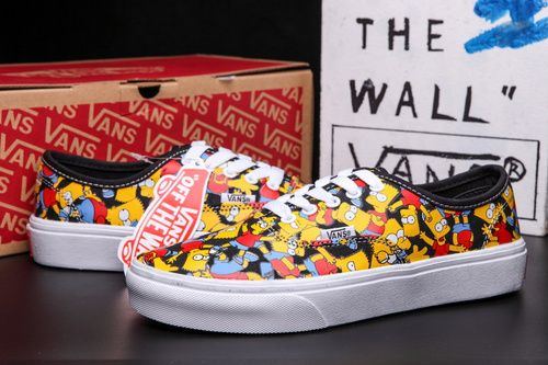 2015 Vans Authentic Classic Cartoon Simpsons Low Unisex Shoe [VN-CUDDC3B CJ01] - $68.95 : cheap vans shoes for men, buy vans skate shoes women online sale