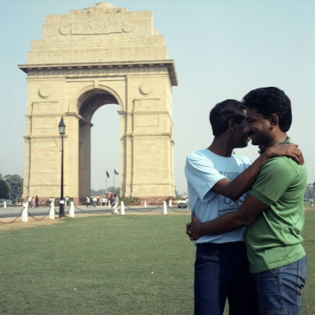 Sunil Gupta, India Gate from the series 'Exiles', 1986-87. Even if you have a lover you should get married and have children. Who would look after you in your old age? @Sunil Gupta