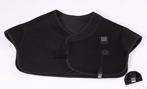 USB heated back and shoulder pad