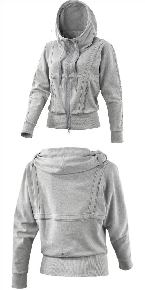Adidas Women's By Stella Mccartney Run performance Hoodie Size S - The Adidas by Stella McCartney Run Performance Zip Hoodie is made of soft fabric that wicks away sweat and feels like cotton. Snap-button straps secure the wide hood while you run. - Track & Active Jackets - Sporting Goods - $150.00
