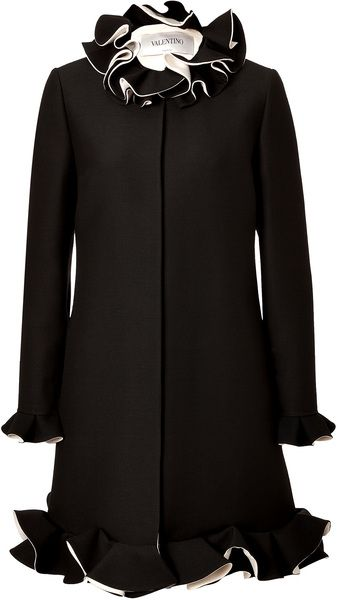 Wool/silk Coat - VALENTINO