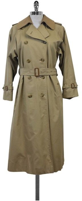 Burberry Burberrys' Classic Tan Trench Coat w/Removable Lining