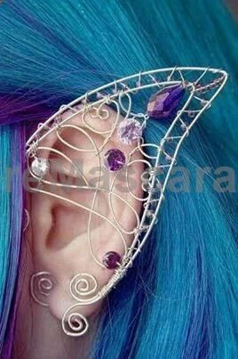Fairy ear cuff : how fun! My mother and grandmother may say no to the wings and ears but I am saying YES!!! And I will have them! #latex #sexy #ladies #women #latexskirt #latexdominate #latexboss #shiny #fashion #latexshopping #buylatex #skirts