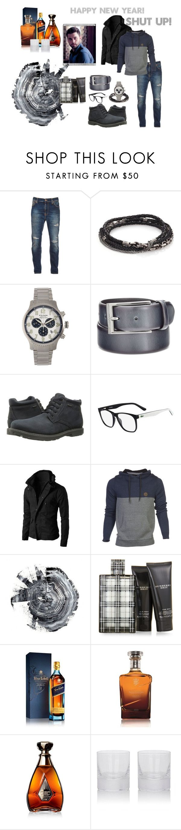 """Kilian #1"" by boondock-saint1999 ❤ liked on Polyvore featuring Polaroid, Nudie Jeans Co., title of work, Filson, HUGO, Rockport, Lacoste, HippyTree, Burberry and Johnnie Walker"