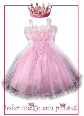 Lichtroze jurk met glinsterende tule rok