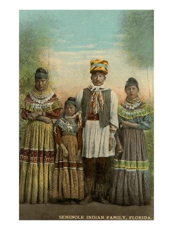 Seminole Indian Family, Florida