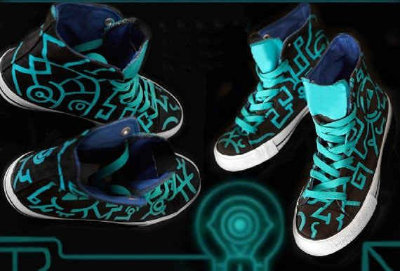 Twilight Princess Painted Shoes