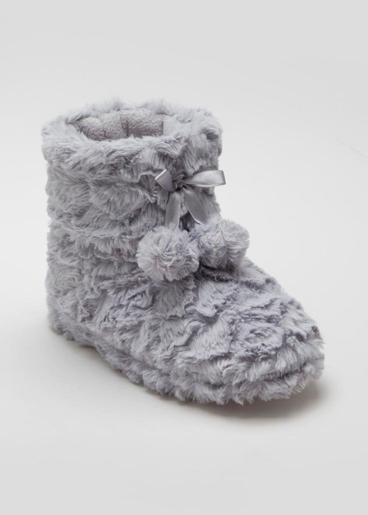 Faux Fur Slipper Boot - Matalan