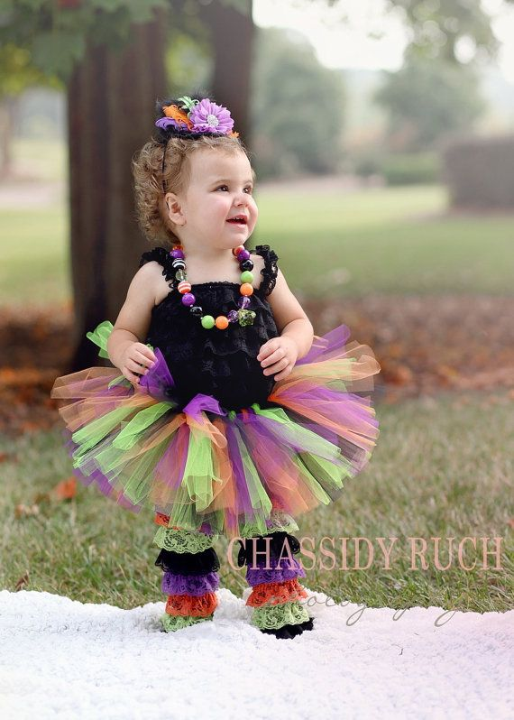 Sassy Lil Witch This outfit is cute, cute, cute! Perfect for Halloween parties, trick or treating, pagaents, fall events, Halloween/fall pictures and many other events. I offer this as just the tutu or as the entire outfit. If you order Tutu ONLY, you will ONLY receive the tutu shown.
