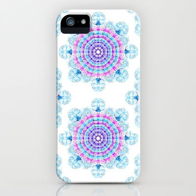 Bubble snowflake iPhone & iPod Case