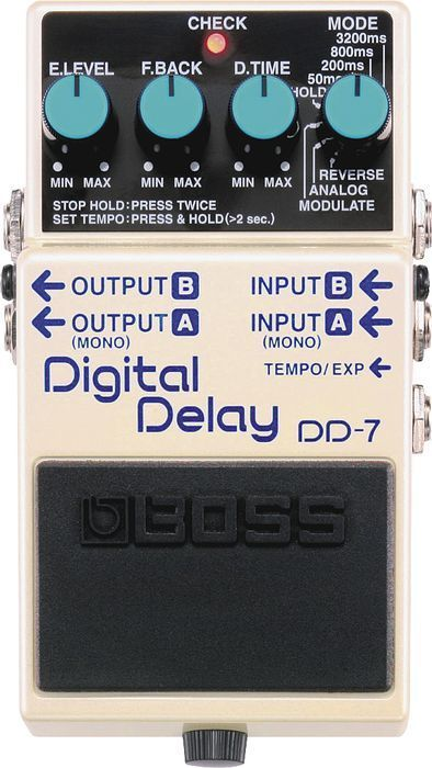 Boss DD-7 Digital Delay Guitar Effects Pedal. Love this delay pedal. #music #effects