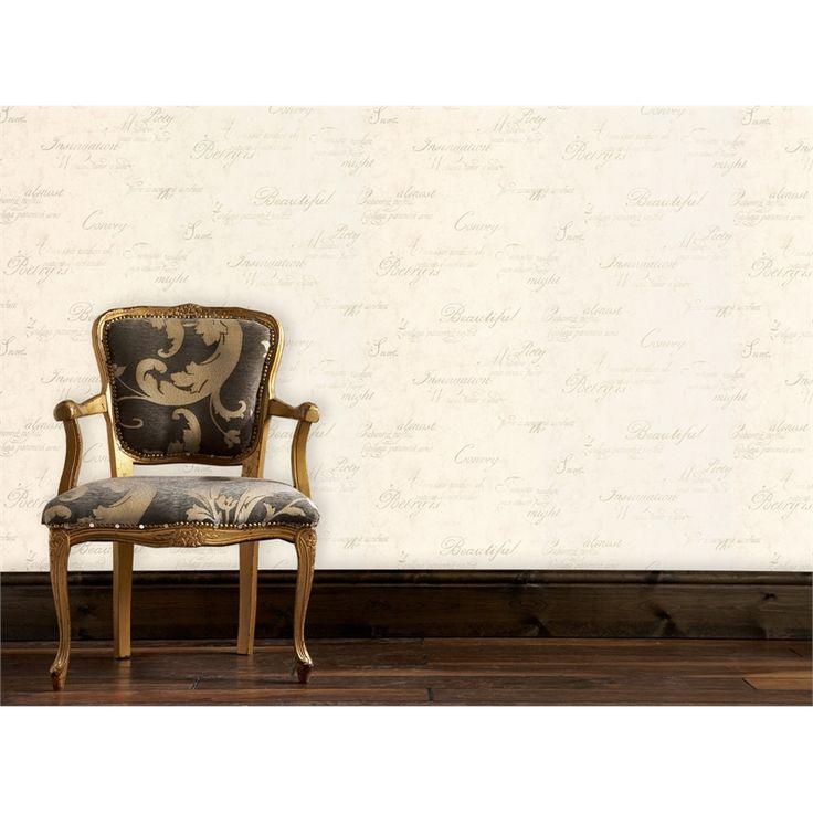 Graham & Brown Concrete Script 52cmx10m Wallpaper Ivory Cream SKU 00271028 | Bunnings Warehouse