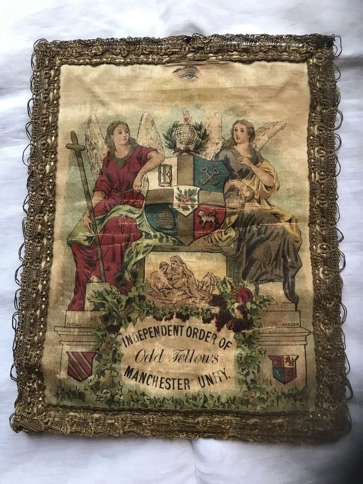 Masonic Independent Order of Oddfellows Manchester Unity Vintage Silk Patch