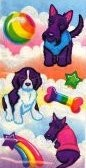 Puppies Lisa Frank stickers - 1990's