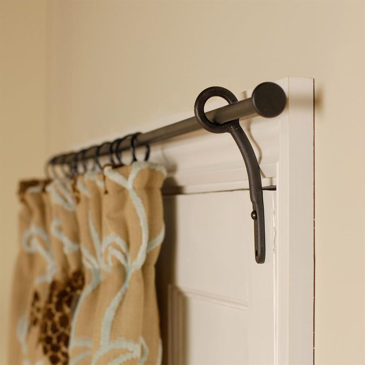 1000 ideas about closet door curtains on pinterest for Door curtain pole