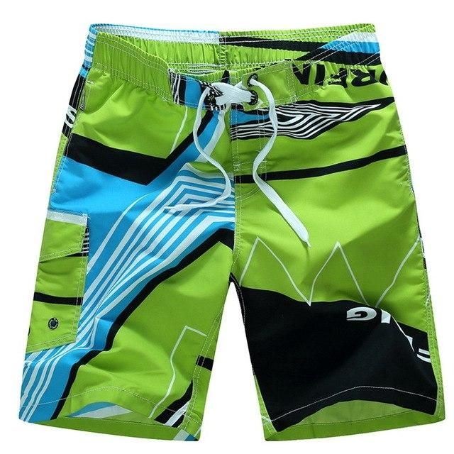 6Xl Loose Men'S Beach Shorts Breathable Drawstring Cool Surfing Bottoms Summer Loose Trunks Bathing Swim Shorts 2019 Green Asian