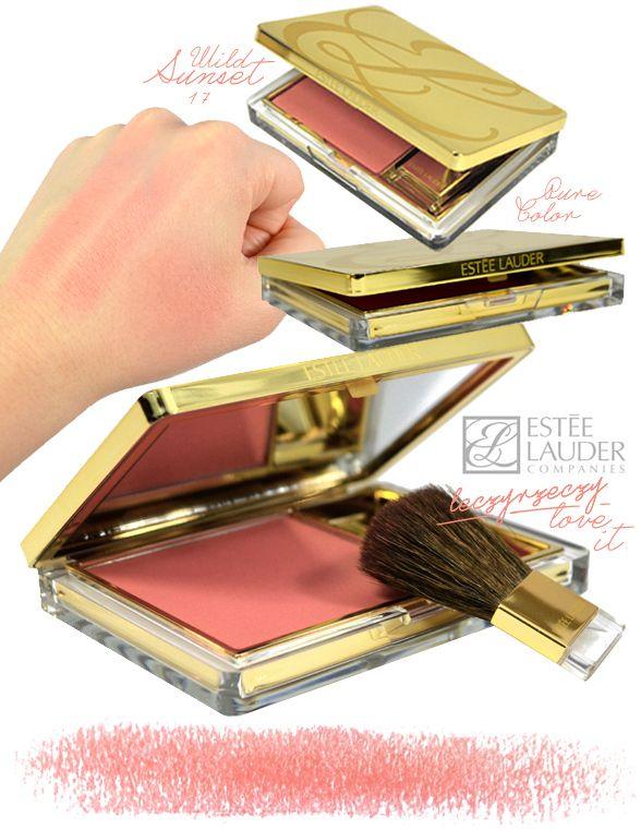 MORE: www.leczyrzeczy.pl/  estee lauder, pure color blush, 17 wild sunset, makeup, swatches, high-end makeup, blush,