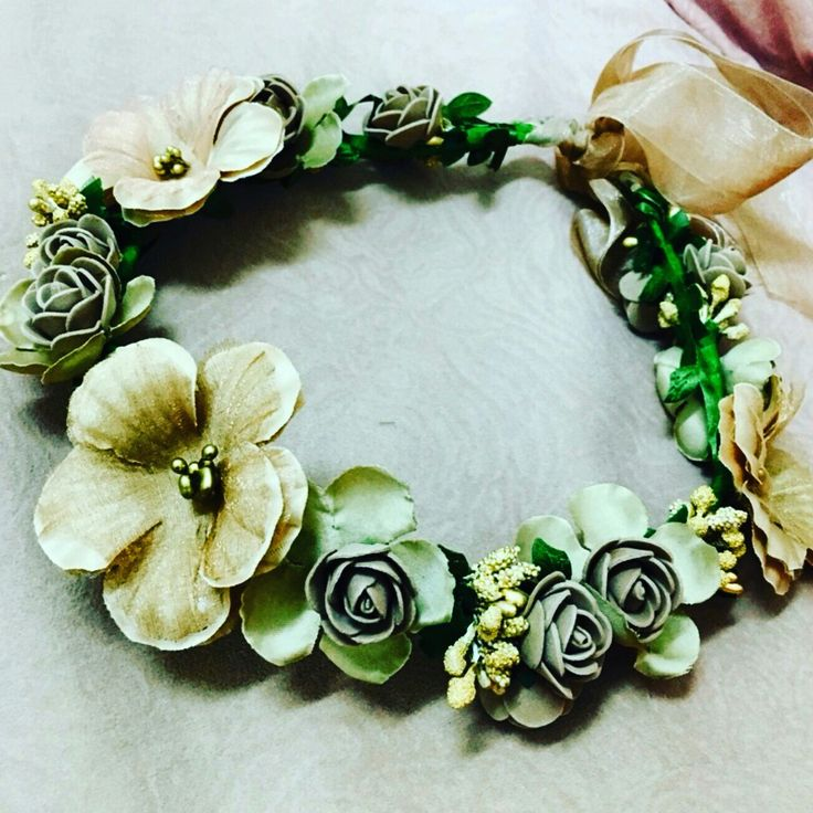 Pretty floral headband is available at Department Golden Pineapple. PM/email us at departmentgoldenpineapple@gmail.com
