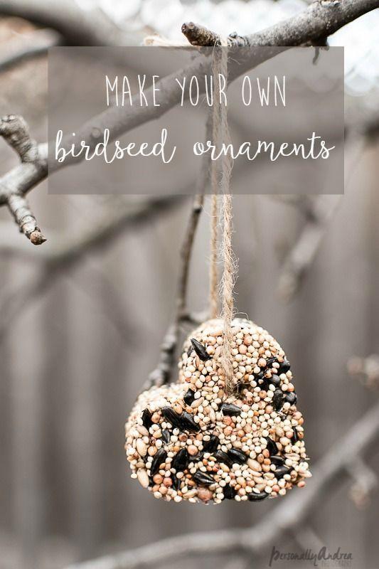 How to Make Birdseed Ornaments | Garden decoration ideas ...
