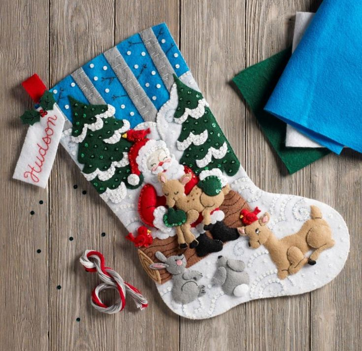 New 2018 Bucilla felt stocking called Santa's Reindeer. This will be available at MerryStockings in March 2018 and available to pre-order starting February 8th.