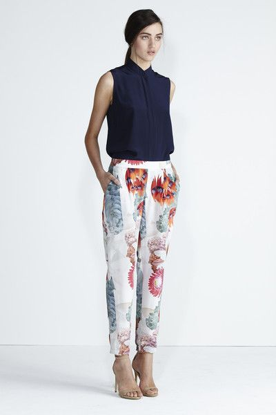 Loving the print pants this season. Wildflower Pant - Red Floral | Secret South
