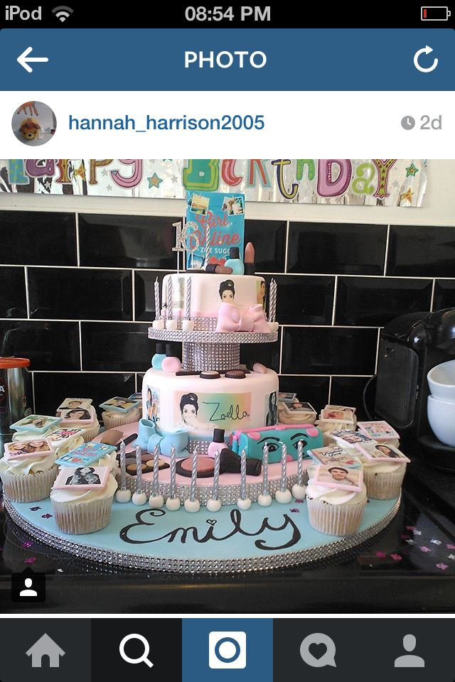 Such a cool zoella cake. So want this for my birthday