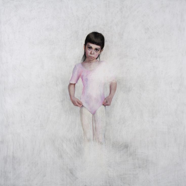 Untitled (Girl in pink) - 2015 - Coloured pencil, graphite and soft pastel on paper - 150x150cm - Angelika Vaxevanidou