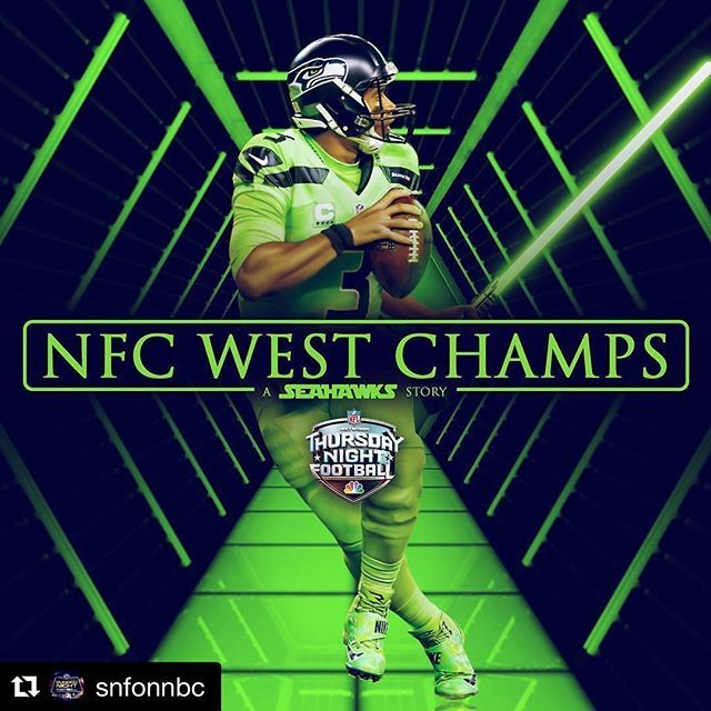 #Repost @snfonnbc ・・・ The @seahawks are NFC West Champs! #TNF #LAvsSEA #Seattle #Seahawks #Football #NFC #Champions