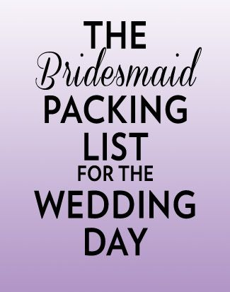 Bridesmaids // Everything bridesmaids should pack for the wedding day, plus lots of tips to make everything go smoothly!