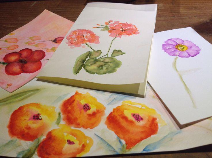 Tarjetas pintadas a mano 3 unidades. de Ecoideacl en Etsy https://www.etsy.com/es/listing/533748574/tarjetas-pintadas-a-mano-3-unidades