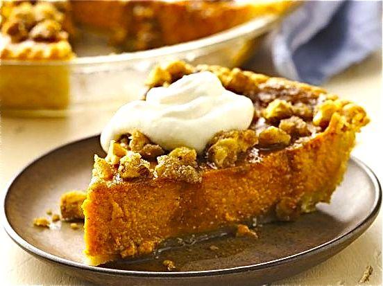Gluten-Free Maple Walnut Pumpkin Pie | Recipe