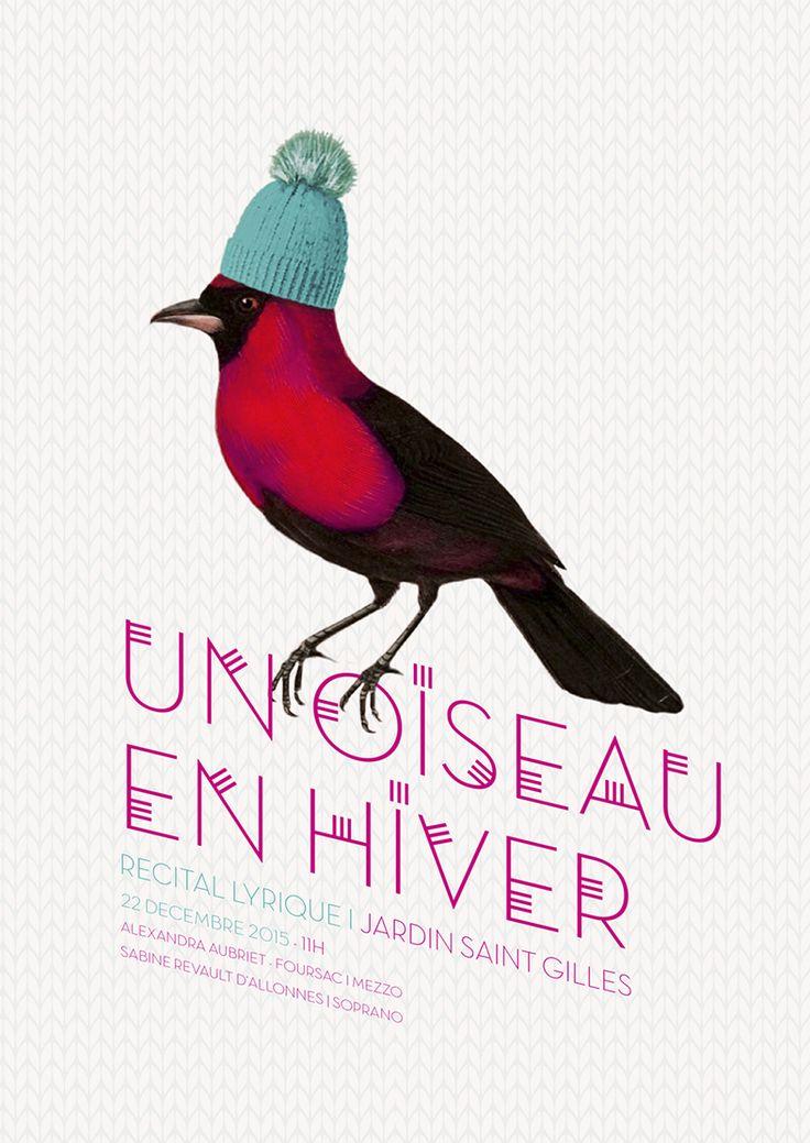 Un oiseau en hiver. Opera Singing Poster.