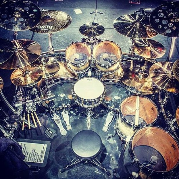 Tommy Aldridge drum kit