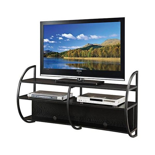 Leick Slate Oak Wood Floating Wall Mounted TV Console (625 BRL) ❤ liked on Polyvore featuring home, furniture, storage & shelves, entertainment units, mounted media console, oak tv console, oak media cabinet, contemporary tv consoles and contemporary furniture