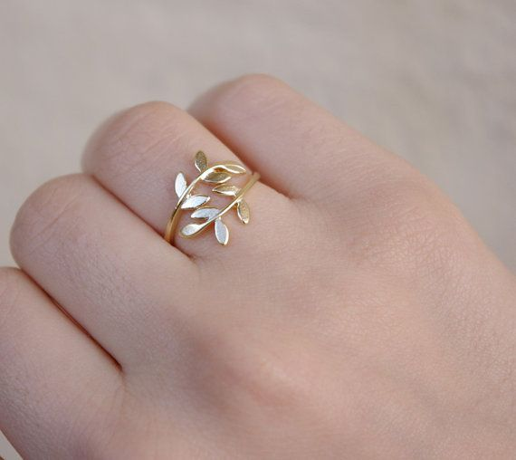 Virginia  Gold Leaf Dreams  Nature Inspired Ring  by SarahOfSweden, $22.00
