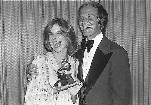 "Debby Boone: One year after the Starland Vocal Band won Best New Artist, the Grammys handed the award to Debby Boone (pictured here with her father, Pat), whose treacly ""You Light Up My Life"" inspired religious devotion in some and simply inspired fits in others. The song lived at No. 1 for 10 weeks - http://www.PaulFDavis.com/success-speaker (info@PaulFDavis.com)"
