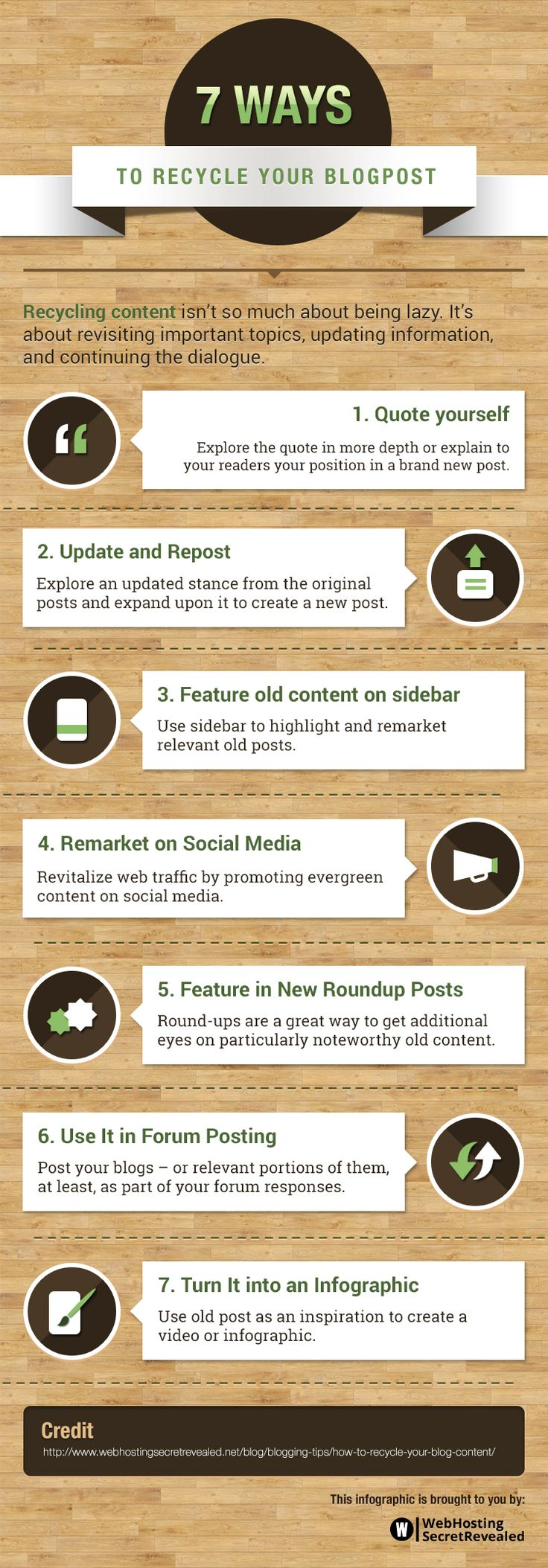 7 Easy Ways to Recycle Your Blogposts