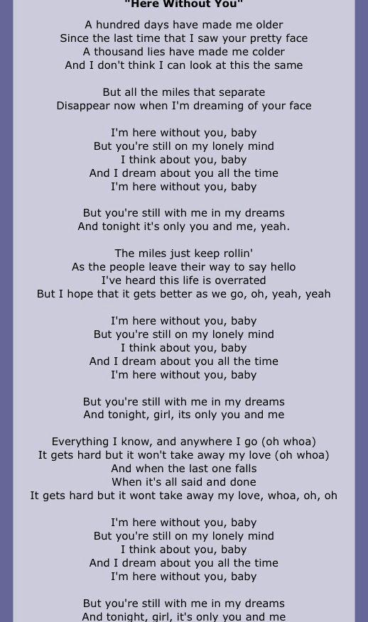Doors New Im Here Without You 3 Doors Down Lyrics