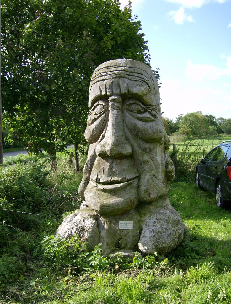 Carved Head, Eye, Suffolk another unusual find in this pretty town