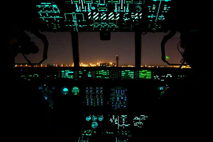 A view from the cockpit of a Royal Australian Air Force C-130J Hercules as the aircraft prepares to depart Baghdad International Airport in Iraq. The aircraft is loaded with pallets of stores destined for Task Group Taji at the Taji Military Complex north of Baghdad.