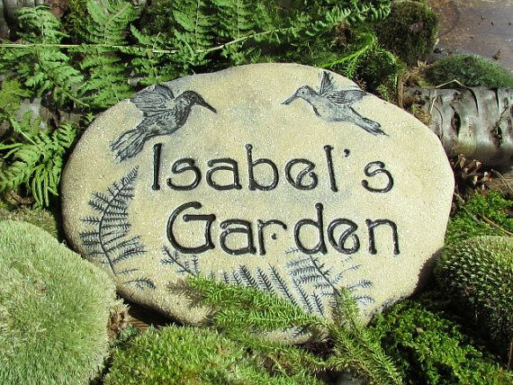 Give a personalized gift to your favorite gardener!  See my shop, Poemstones, on Etsy.com. There are many choices of beautiful decorations!