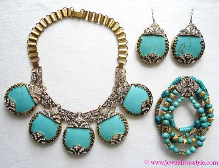 JDS - DESIGNER INSPIRED: the gorgeous glamazon necklace I made earrings and a bracelet out of - http://jeweldivasstyle.com/designer-inspired-the-amazon-is-going-glamazon/